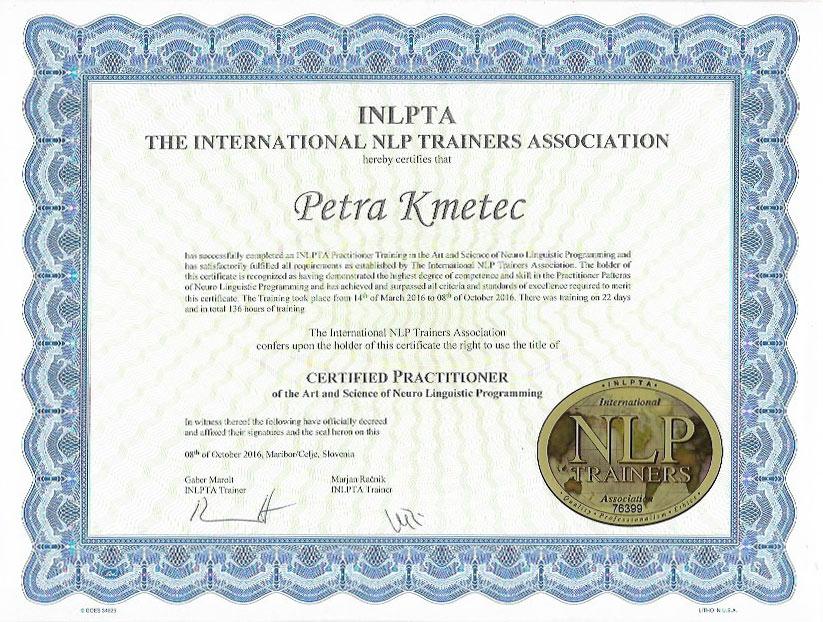 NLP certifikat